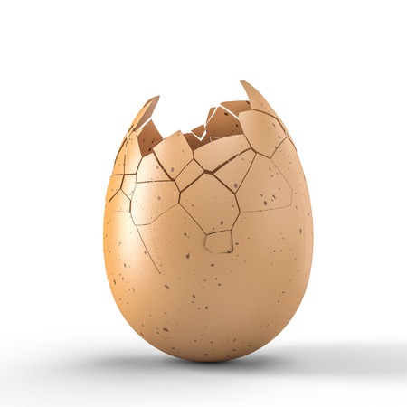 3d rendering image of broken egg Stock fotó