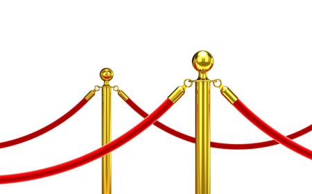 detail of red carpet 3d rendering image