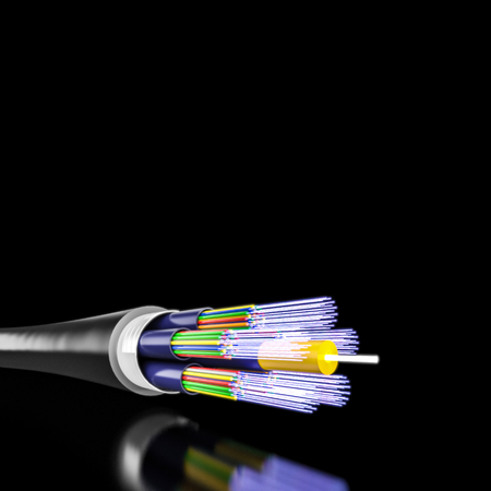 3d rendering of optical fiber background Imagens