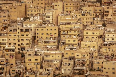 detail of the ancient city of Amman, Jordan. Famous place and international tourist destination. Banque d'images