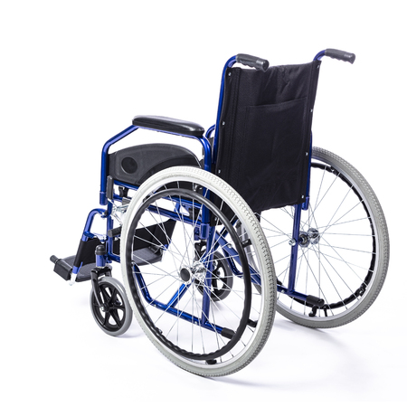 wheelchair for the disabled on a white background rear view 版權商用圖片