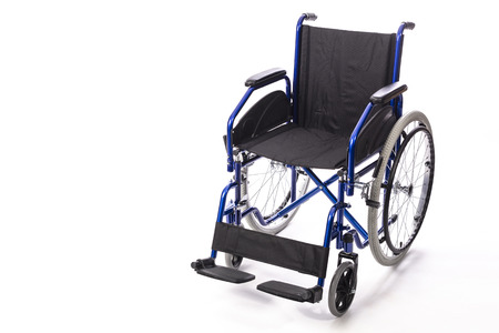 wheelchair for the disabled on a white background front view
