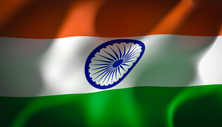 3d image render of a flag of india Stok Fotoğraf