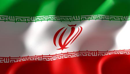 immagine 3d rendering di una bandiera dell iran