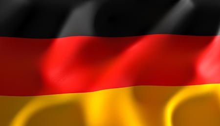 3d image render of a flag of germany Stok Fotoğraf