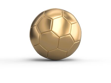 handball gold ball on a white background. 3d image render