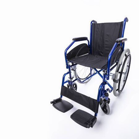 wheelchair for the disabled on a white background, nobodyin the image.