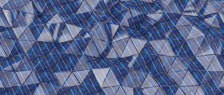 3d background geometric render with triangular and textured shapes in voltaic cells