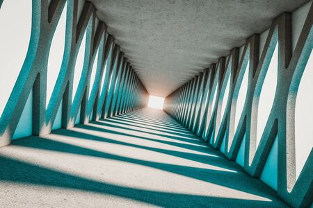 abstract modern concrete structure 3d rendering image