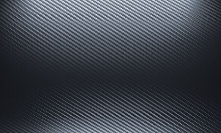 carbon fiber background in black shades. 3d render. nobody around. horizontal format.