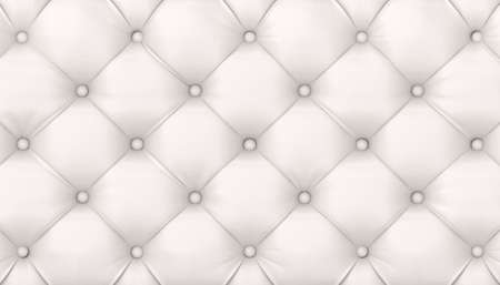 tufted white leather background. 3d render