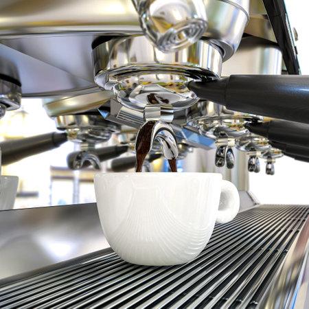 professional coffee machine. 3d render 版權商用圖片