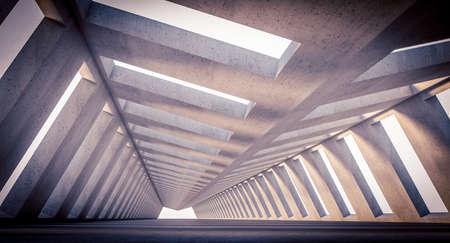 futuristic concrete structure, modern architecture. 3d render 版權商用圖片