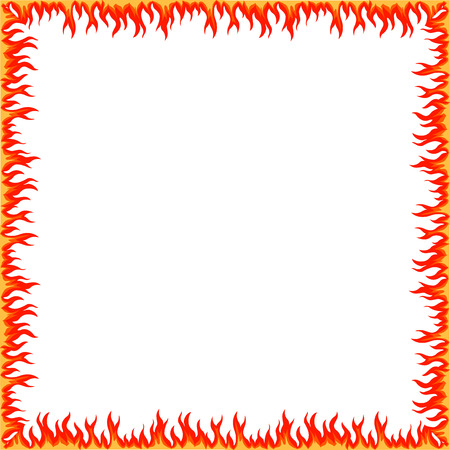Fire frame Border tribal style hand drawn abstract