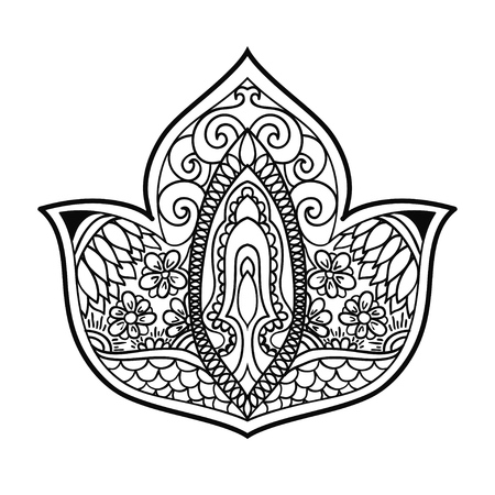 indian ornament paisley vector floral design elements or motifs template for cards, banners and other. Vetores