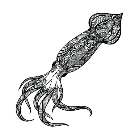 Libro Para Colorear Pulpo Cthulhu Kraken Almeja Enojado Bajo El