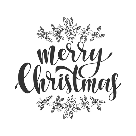 swirl: Merry Christmas vector text Calligraphic Lettering design card template.Creative typography for Holiday Greeting Gift Poster. Calligraphy Font style Banner