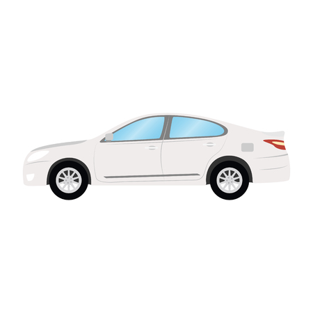Car vector template on white background. Business sedan isolated. white sedan flat style. side view. Illustration