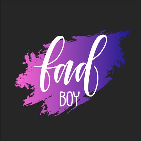 bad boy Slogan Fashion Calligraphy vector illustration vintage grunge design print for t-shirt and apparels. Rock and Roll Girl design 矢量图像