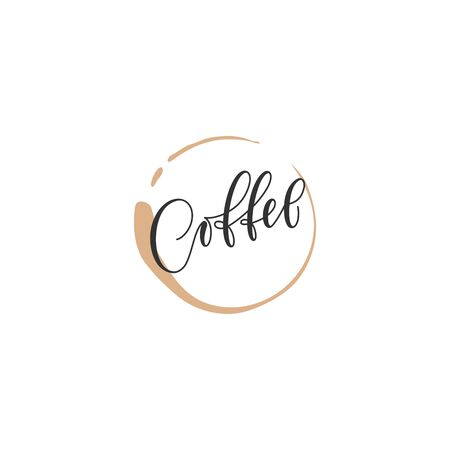 Poster lettering coffee in modern calligraphy style. stylized hand lettering banner for menu prints posters advertising