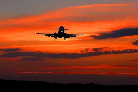 big aircraft preparing to land photo
