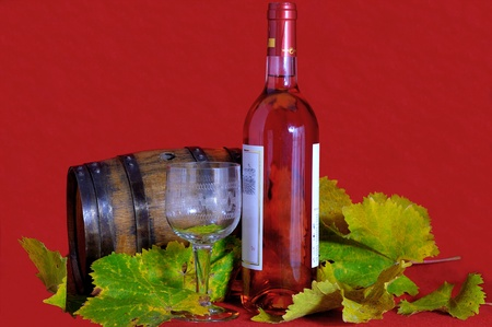 Tasting of rose wine photo