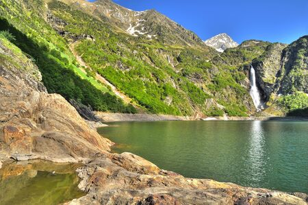 A lake in the French Pyrenees   photo
