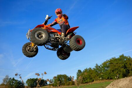 quad jump in French Stock Photo - 9275107