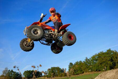 quad sprong in het Frans