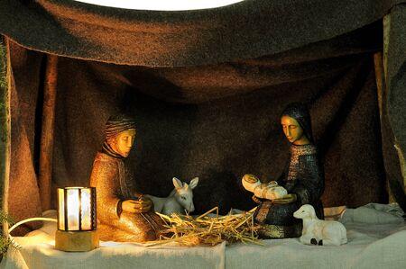 Nativity scene in ceramic figures Stock Photo - 10818621