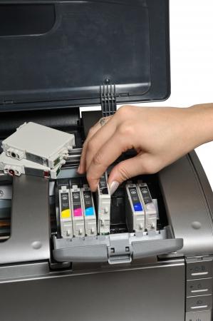 zastąpić: pojemnik z tuszem do drukowania Zdjęcie Seryjne