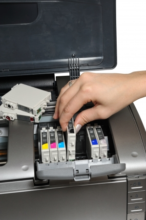 ink jet: replacement ink cartridge for printing