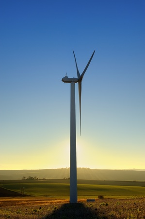 a wind turbines in the South of France photo