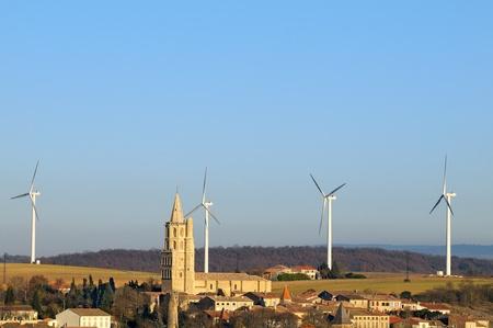 turbin: ett vindkraftverk i södra Frankrike (Avignonet-Lauragais)