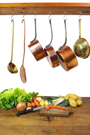 frying: preparation of a vegetables soup