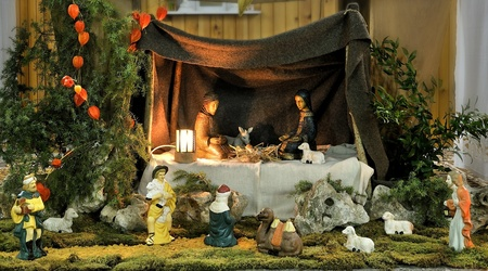 creche: cr�che for Christmas and New years Stock Photo