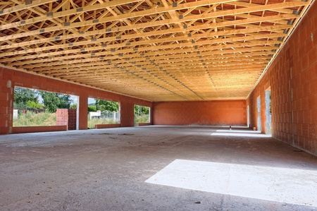 empty interior of a house under construction photo