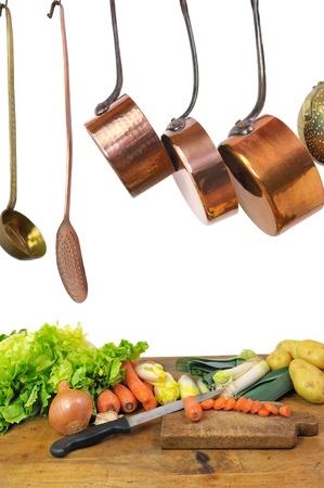 preparation of a vegetables soup photo