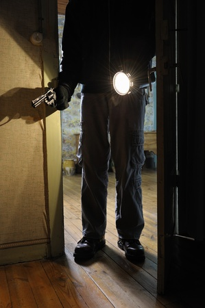 intrusion of a burglar in a house inhabited Stock Photo - 11271485