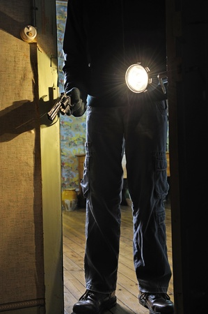 intrusion of a burglar in a house inhabited Stock Photo - 11271487