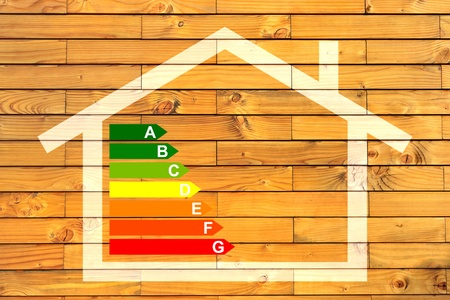 insulation: house and energy classification Stock Photo