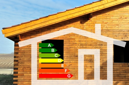 thermal energy: house and energy classification Stock Photo