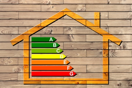 house and energy classification Stock Photo