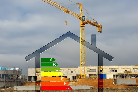 energy classification of new construction Stock Photo