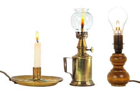 kerosene lamp: different lighting means new and old
