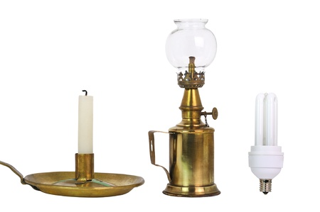 oil lamp: different lighting means new and old