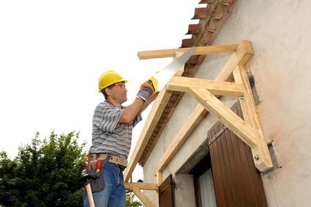 artesano: el trabajo de un carpintero artesano