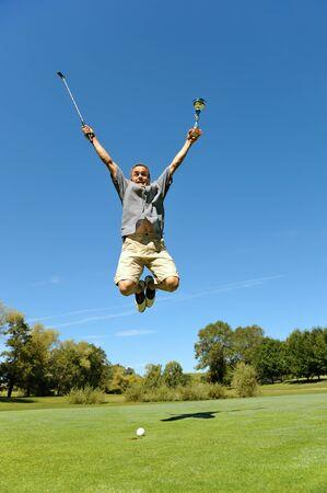 the winner of a golf tournament photo