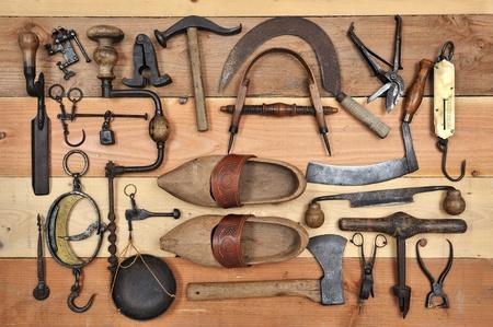 handtools: many tools of the past Stock Photo