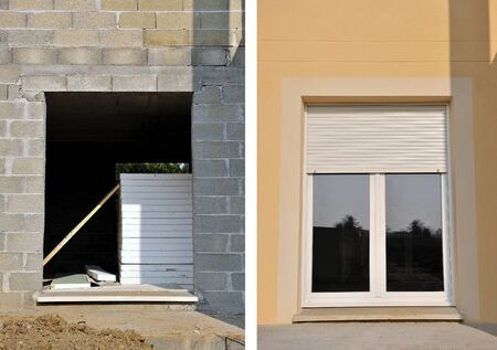 subdivisions: a house under construction before and after